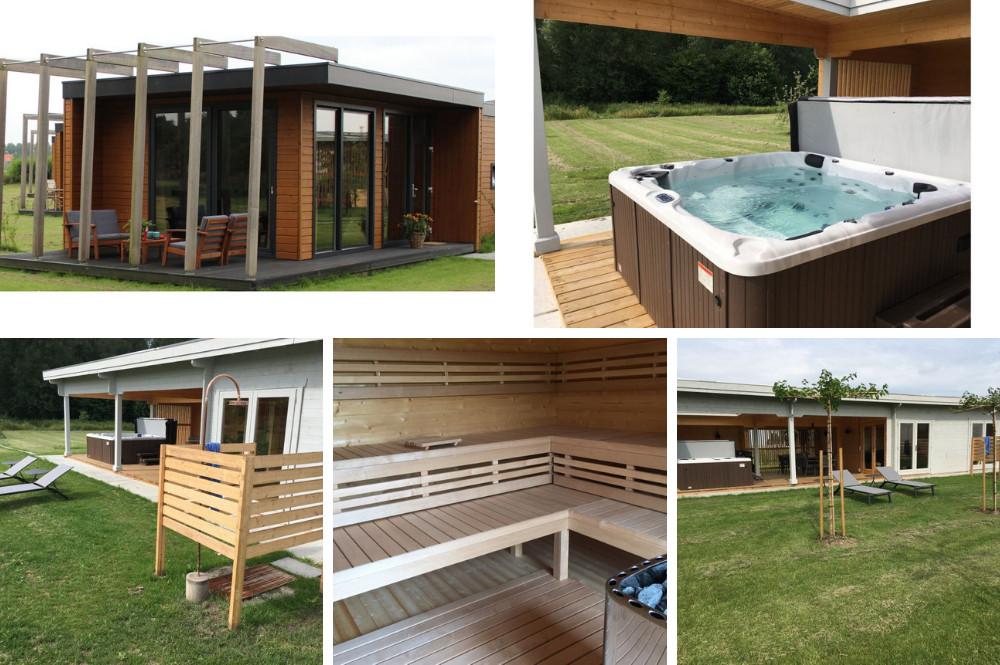 Chalet met bubbelbad buiten en sauna - Almere - Flevoland