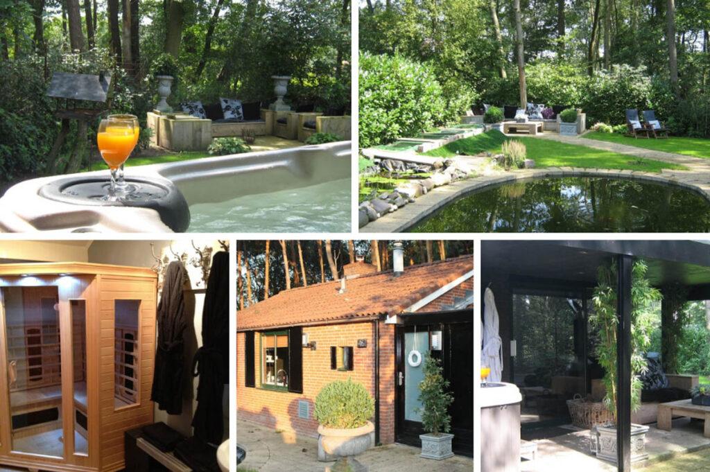 Huisje met sauna, jacuzzi & natuurzwembad in Haaksbergen