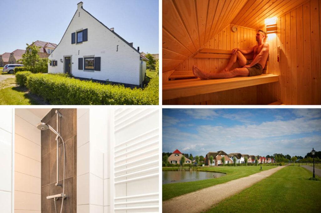 Wellness bungalows met Finse sauna in Limburg