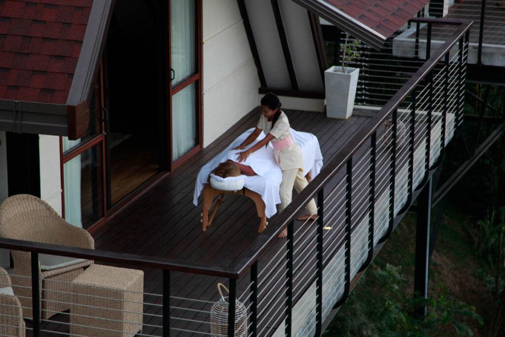 Massage met uitzicht - Anasa Wellness Resort Sri Lanka