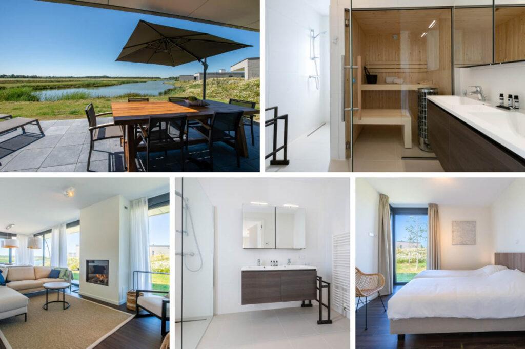 Luxe vakantiehuis met sauna in Zeeland