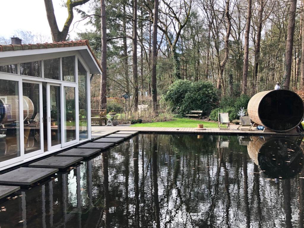 Wellness huisje met zwemvijver / natuurzwembad