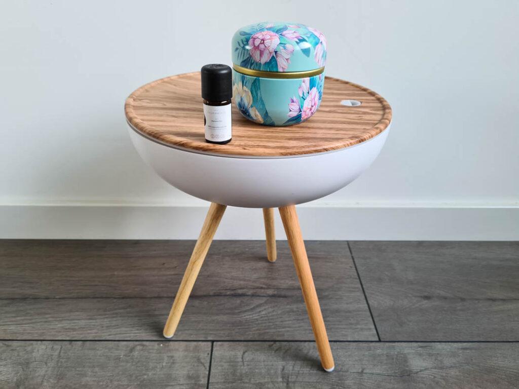 Japanse wellness thuis met aroma diffuser in huis