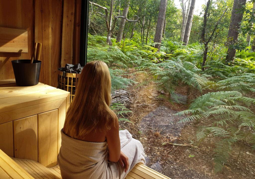 Sauna met uitzicht in Brabant