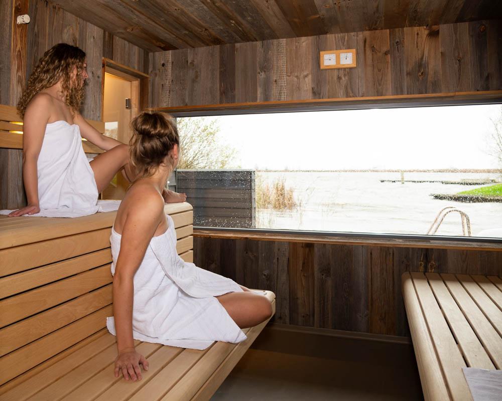 Sauna met uitzicht in Friesland