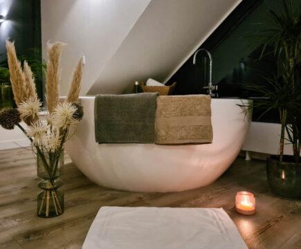 Zachte luxe badhanddoeken van biologisch katoen van Yumeko
