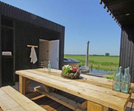Glamping met sauna in Drenthe