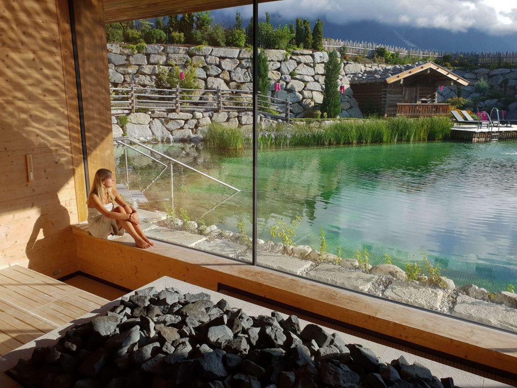 Panoramasauna in luxe wellness hotel in Oostenrijk