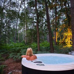 Privé sauna met jacuzzi buiten - Brabant