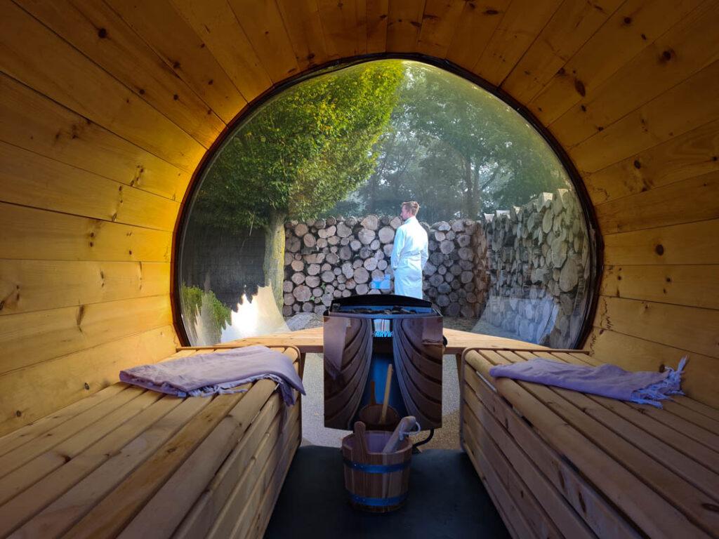 Privé sauna met uitzicht in Brabant