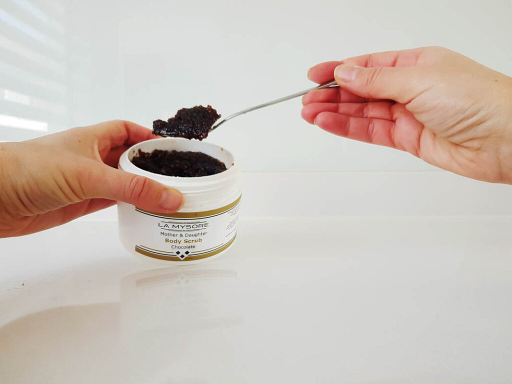Chocolade beauty producten - Mother & Daughter Chocolade Body Scrub