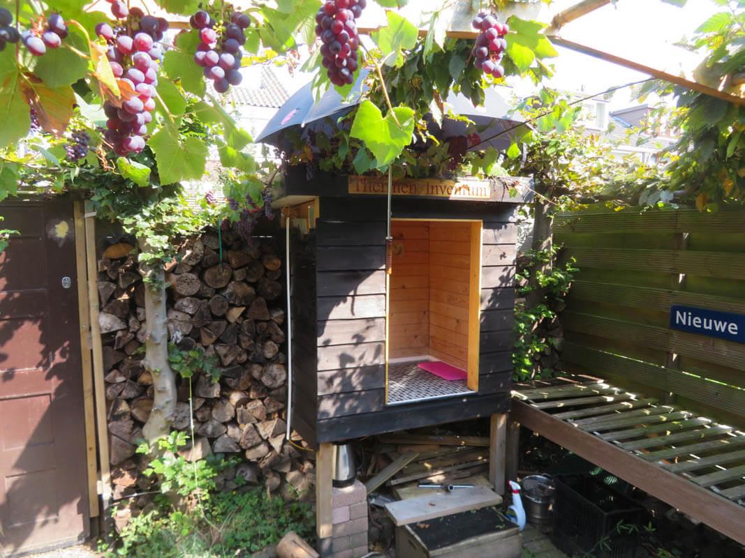 Zelf een mini-sauna in tuin bouwen