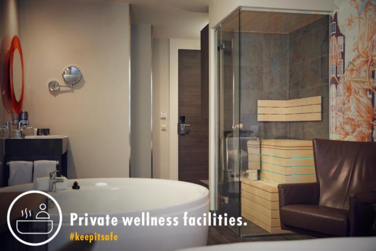 Hotelkamer met sauna en bad Amsterdam