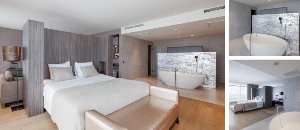 Hotelkamer met sauna en bad Zwolle
