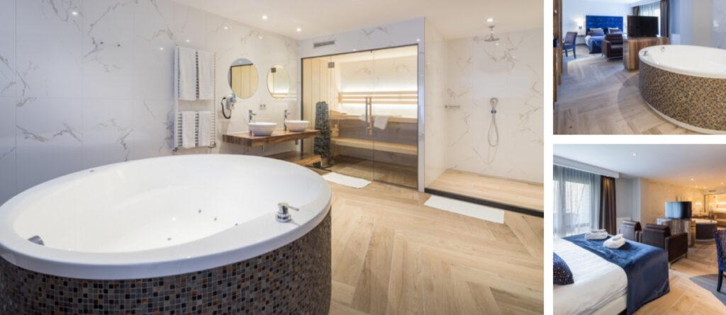 Hotelkamer met sauna en bubbelbad