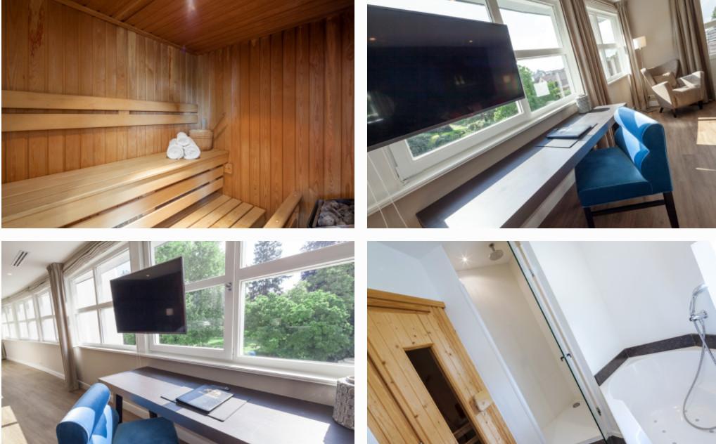 Saunasuite op kamer in Limburg