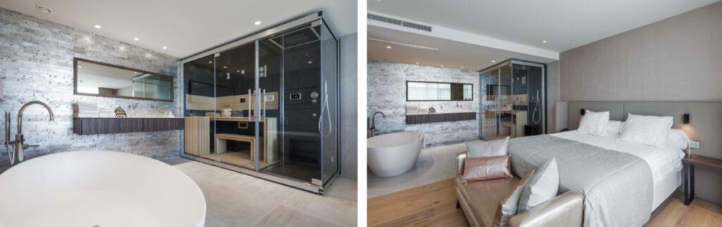 Hotel kamer met sauna en bad in Overijssel