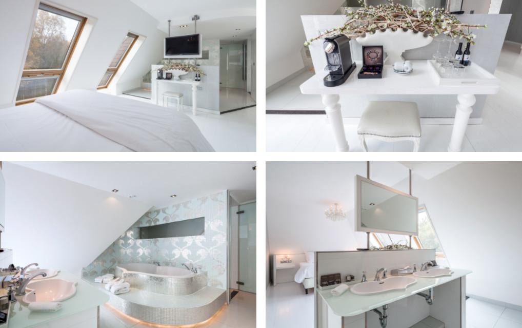 Suite met hartvormig bad in Nederland