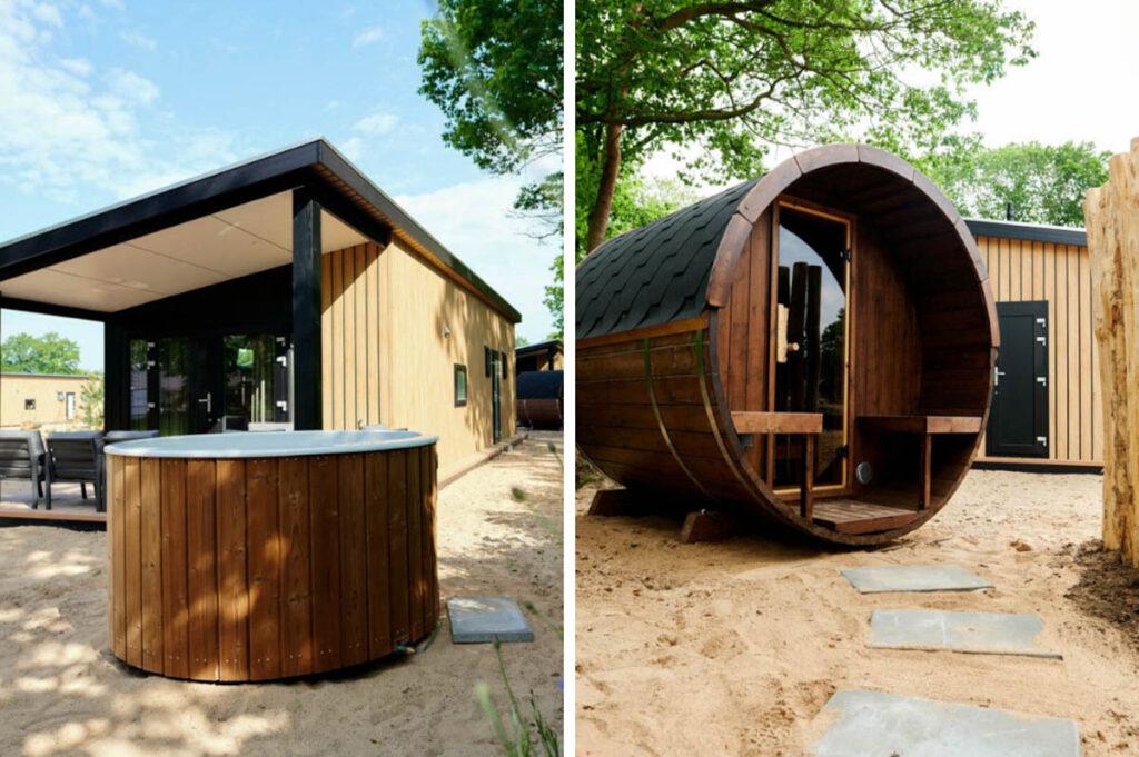 Wellness huisje op de Veluwe met sauna en bubbelbad