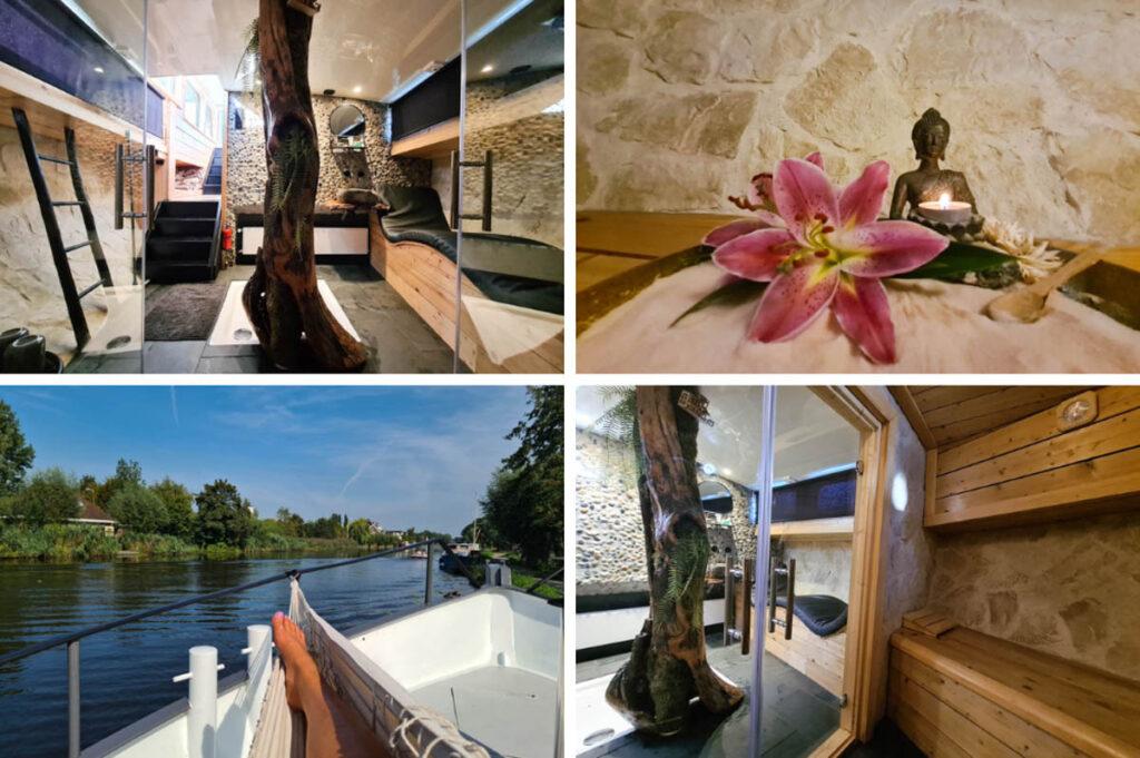 Wellness op het water - saunaboot